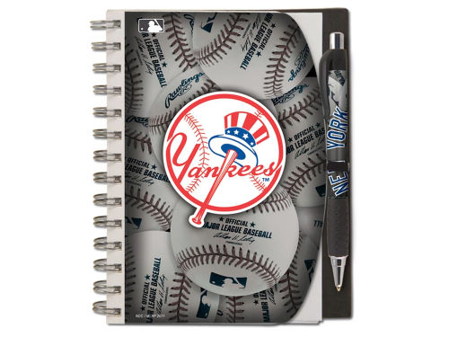 New York Yankees 5x7 Spiral Notebook And Pen Set