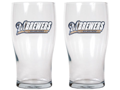 Milwaukee Brewers Great American Products 2 Pack 20oz Pub Glass