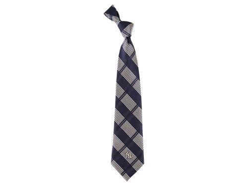 New York Yankees Eagles Wings Necktie Woven Poly Plaid