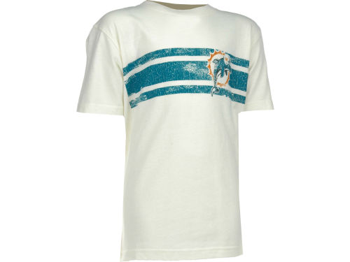 Miami Dolphins Outerstuff NFL Youth Logo Stripe T-Shirt