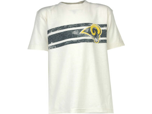 St. Louis Rams Outerstuff NFL Youth Logo Stripe T-Shirt