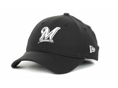 Milwaukee Brewers MLB Black and White Ace 39THIRTY Hats