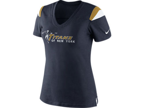New York Titans Nike NFL Womens Retro Fashion Vneck T-Shirt