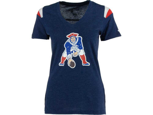 New England Patriots Nike NFL Womens Retro Fashion Vneck T-Shirt
