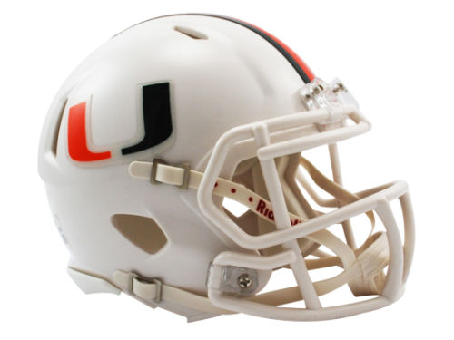 Miami Hurricanes Riddell Speed Mini Helmet