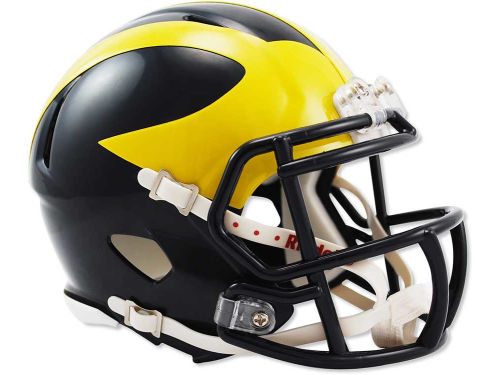 Michigan Wolverines Riddell Speed Mini Helmet