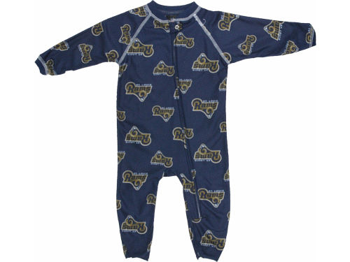 St. Louis Rams Outerstuff NFL Newborn Full Zip Raglan Coverall