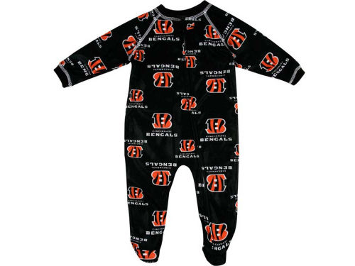 Cincinnati Bengals Outerstuff NFL Newborn Full Zip Raglan Coverall