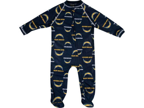 San Diego Chargers Outerstuff NFL Infant Full Zip Raglan Coverall