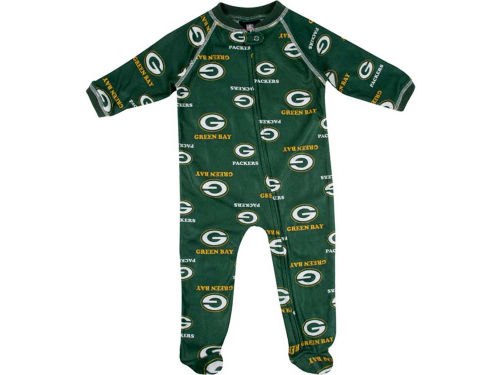 Green Bay Packers Outerstuff NFL Infant Full Zip Raglan Coverall