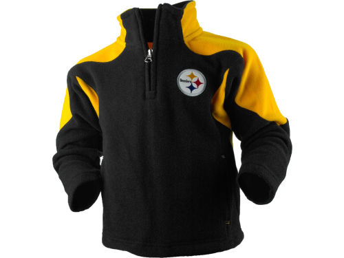 Pittsburgh Steelers Outerstuff NFL Toddler 1/4 Zip Mico Polar Fleece Jacket