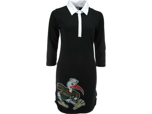 Miami Hurricanes NCAA Womens Prepster Polo Dress