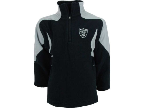 Oakland Raiders Outerstuff NFL Youth 1/4 Zip Mico Polar Fleece Jacket