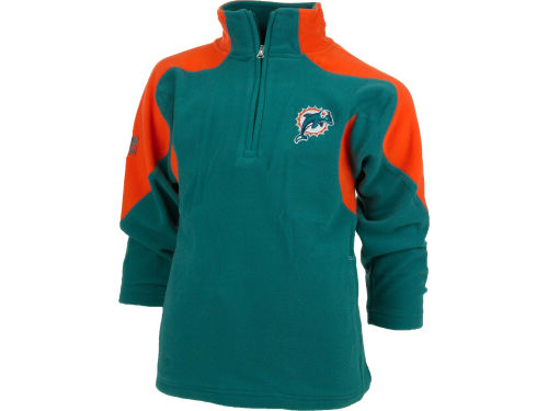 Miami Dolphins Outerstuff NFL Youth 1/4 Zip Mico Polar Fleece Jacket