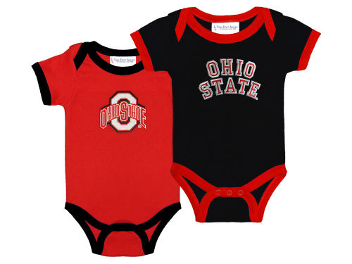 Ohio State Buckeyes NCAA Newborn 2 Pack Contrast Creeper