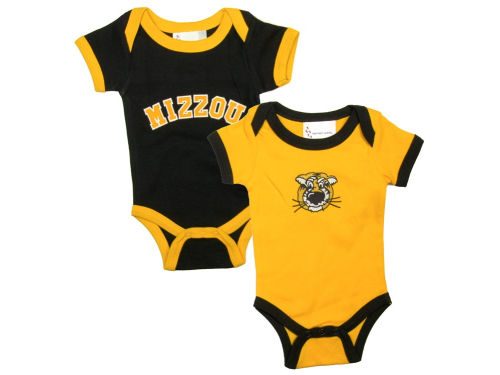 Missouri Tigers NCAA Newborn 2 Pack Contrast Creeper
