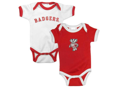Wisconsin Badgers NCAA Newborn 2 Pack Contrast Creeper