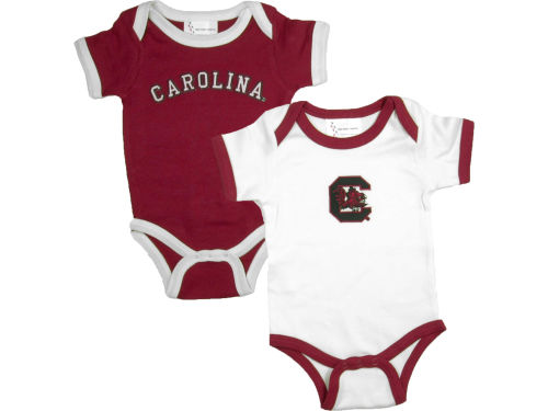 South Carolina Gamecocks NCAA Newborn 2 Pack Contrast Creeper
