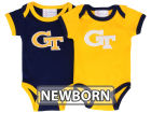 Georgia Tech Yellow Jackets NCAA Newborn 2 Pack Contrast Creeper Infant Apparel