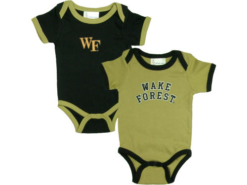 Wake Forest Demon Deacons NCAA Newborn 2 Pack Contrast Creeper