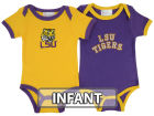 LSU Tigers NCAA Infant 2 Pack Conrtrast Creeper Infant Apparel