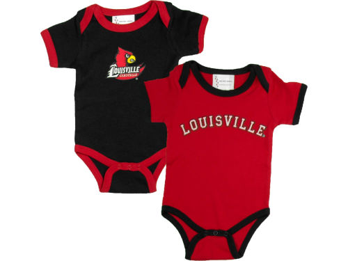Louisville Cardinals NCAA Infant 2 Pack Conrtrast Creeper