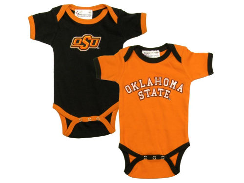 Oklahoma State Cowboys NCAA Infant 2 Pack Conrtrast Creeper