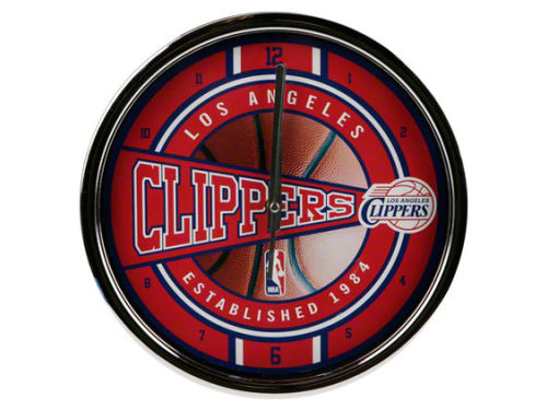 Los Angeles Clippers Chrome Clock