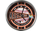 Miami Marlins Chrome Clock Bed & Bath