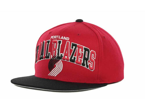 Portland Trail Blazers Mitchell and Ness NBA Hardwood Classics Tri-Pop Snapback Cap Hats