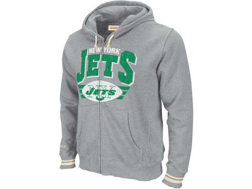 New York Jets Mitchell and Ness NFL  Stadium Full Zip Hoodie