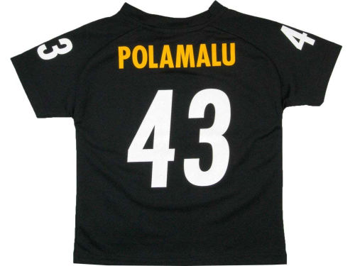Pittsburgh Steelers Troy Polamalu Outerstuff NFL Youth Fashion Performance T-Shirt