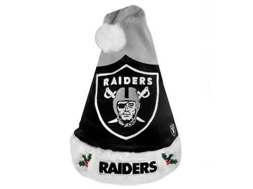 Oakland Raiders Team Logo Santa Hat