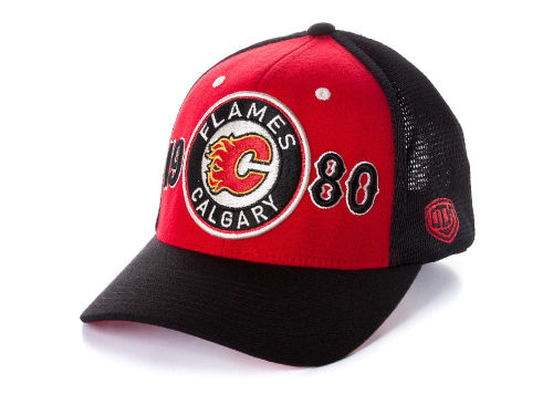 Calgary Flames Old Time Hockey NHL Rodman Cap Hats