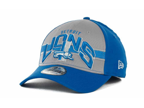 Detroit Lions New Era NFL Tri Band 39THIRTY Hats