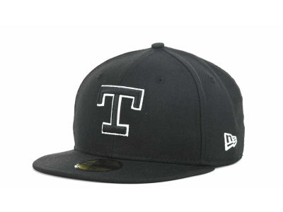 Texas Rangers MLB Black and White Fashion 59FIFTY Hats