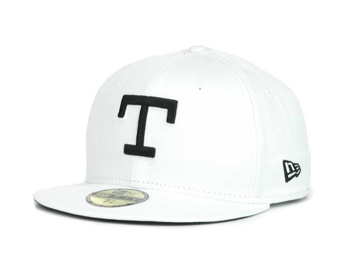 Texas Rangers New Era MLB White And Black 59FIFTY Hats