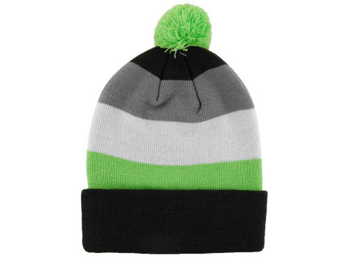 LIDS Private Label PL Cuffed Stripe Knit With Pom Hats