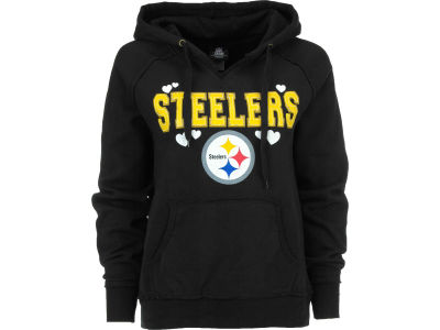 Pittsburgh Steelers NFL Womens Brushed Fleece Pullover Hoodie