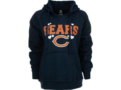 Chicago Bears NFL Womens Brushed Fleece Pullover Hoodie