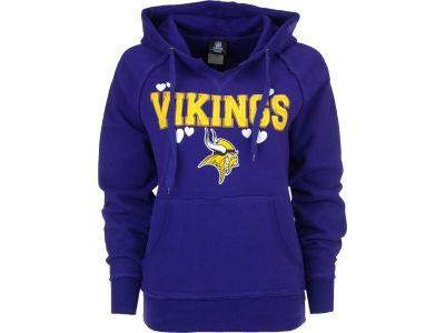 Minnesota Vikings NFL Womens Brushed Fleece Pullover Hoodie