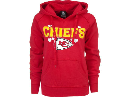 Kansas City Chiefs 5th & Ocean NFL Womens Brushed Fleece Pullover Hoodie