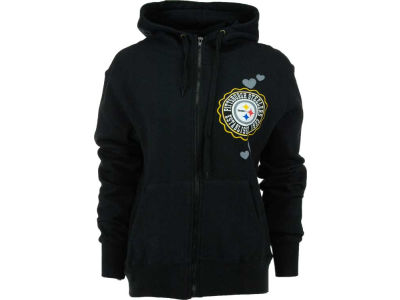 Pittsburgh Steelers NFL Womens Full Zip Brushed Fleece
