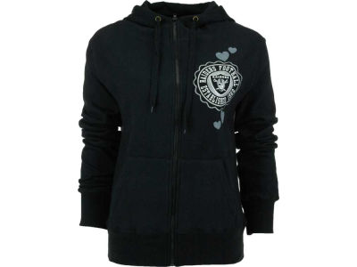 Oakland Raiders NFL Womens Full Zip Brushed Fleece