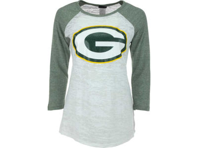 Green Bay Packers NFL Womens Tri-Blend Crew Neck Raglan T-Shirt