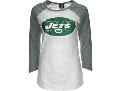 New York Jets NFL Womens Tri-Blend Crew Neck Raglan T-Shirt