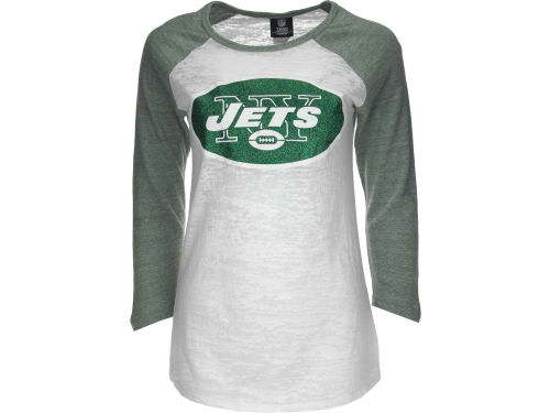 New York Jets 5th and Ocean NFL Womens Tri-Blend Crew Neck Raglan T-Shirt