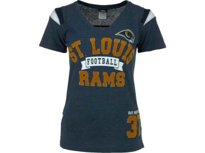 St. Louis Rams NFL Womens Tri-Blend Jersey V-Neck