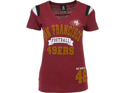San Francisco 49ers NFL Womens Tri-Blend Jersey V-Neck