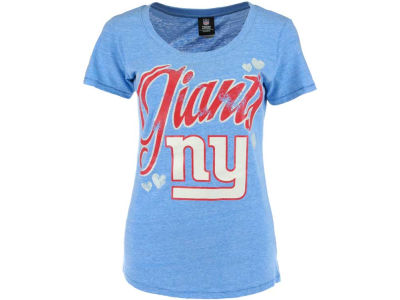 New York Giants NFL Womens Tri-Blend Jersey Scoop